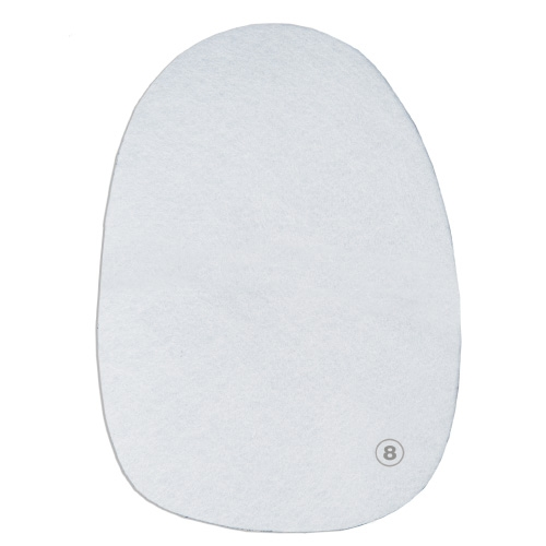 #8 White Microfiber Universal Slide Pad