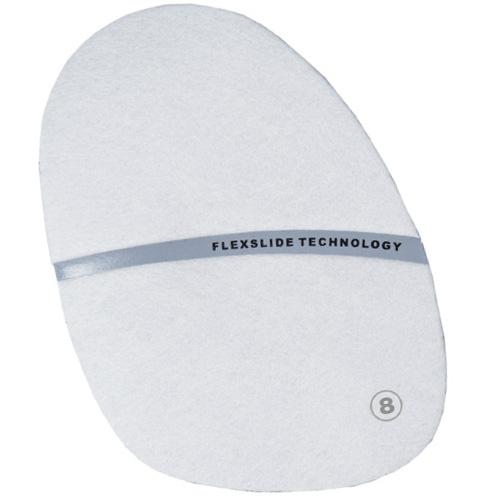 #8 White Microfiber Slide Pad