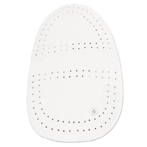 #6 Perforated White Microfiber Universal Slide Pad