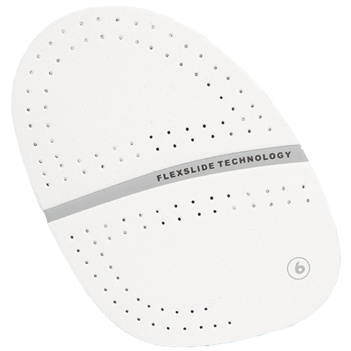 #6 Perforated White Microfiber Slide Pad