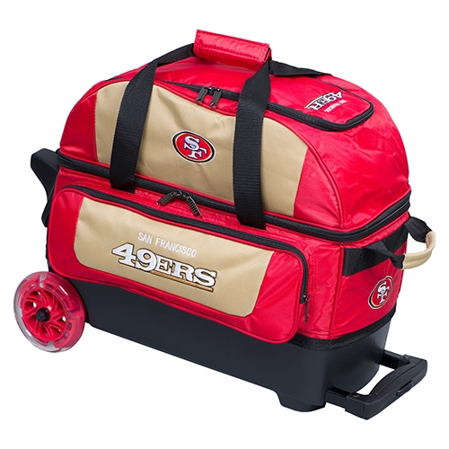 San Francisco 49ers Double Roller Bowling Ball Bag